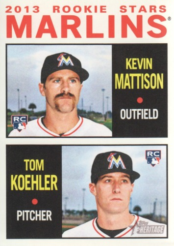 Photo of 2013 Topps Heritage #337 Kevin Mattison RC/Tom Koehler RC