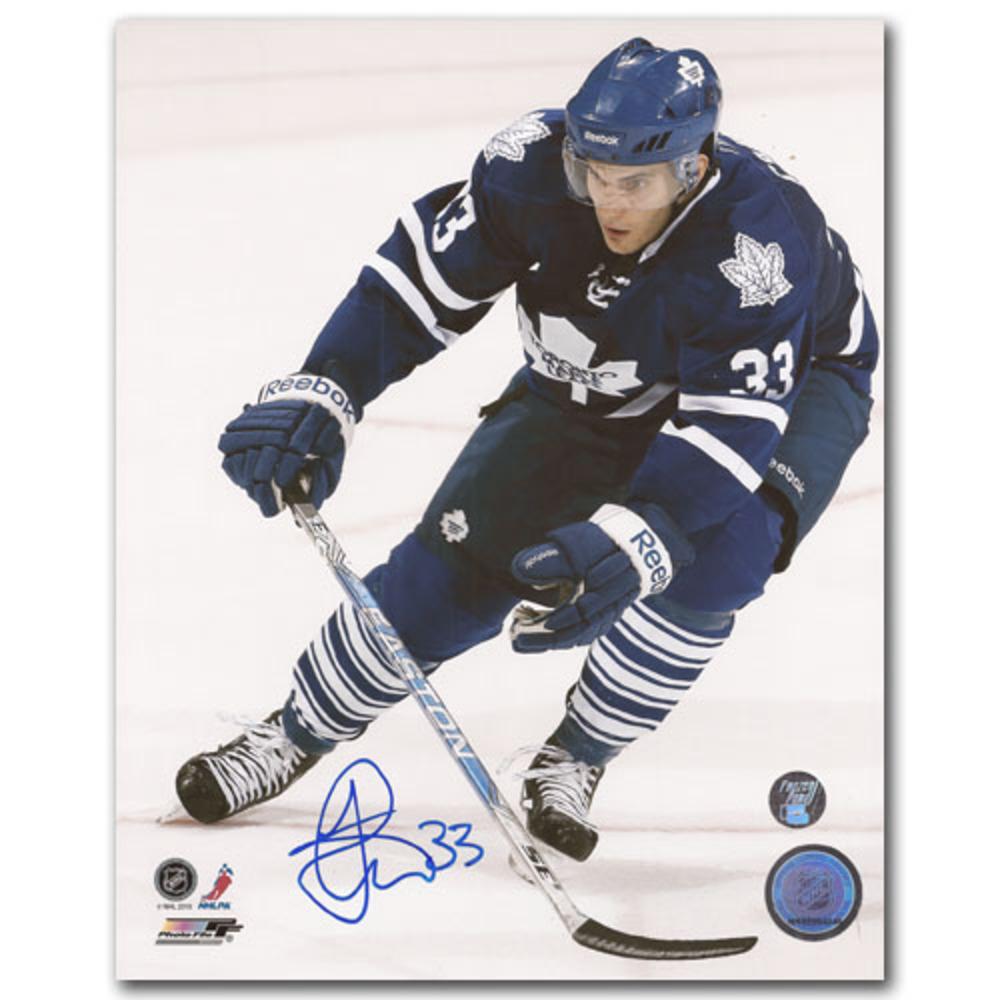 Luca Caputi Autographed Toronto Maple Leafs 8X10 Photo