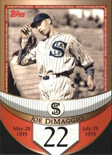 Photo of 2007 Topps DiMaggio Streak Before the Streak #JDSF22 Joe DiMaggio