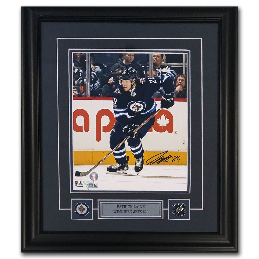 Patrik Laine Autographed Winnipeg Jets Framed 8X10 Photo