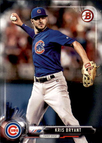 Photo of 2017 Bowman #1 Kris Bryant Cubs post-season
