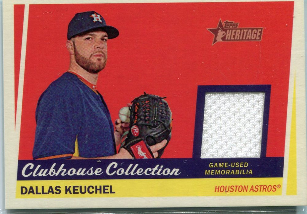 2016 Topps Heritage Clubhouse Collection Relics Dallas Keuchel