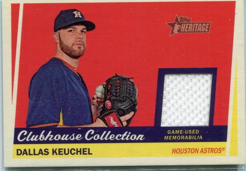 Photo of 2016 Topps Heritage Clubhouse Collection Relics Dallas Keuchel