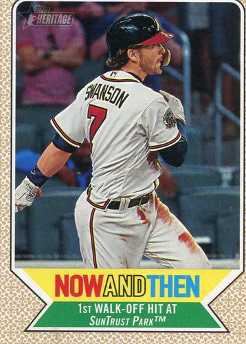 Photo of 2017 Topps Heritage Now and Then #NT8 Dansby Swanson