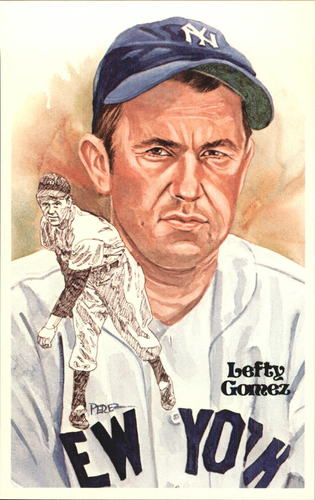 Photo of 1980-02 Perez-Steele Hall of Fame Postcards #129 Lefty Gomez -- Set #08689