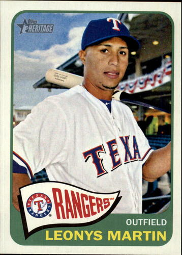 Photo of 2014 Topps Heritage #203 Leonys Martin