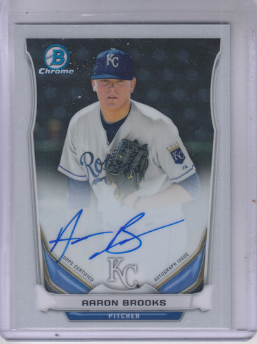 Photo of 2014 Bowman Chrome Prospect Autographs #BCAPABR Aaron Brooks