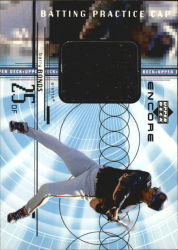 Photo of 1999 Upper Deck Encore Batting Practice Caps #CBB Barry Bonds