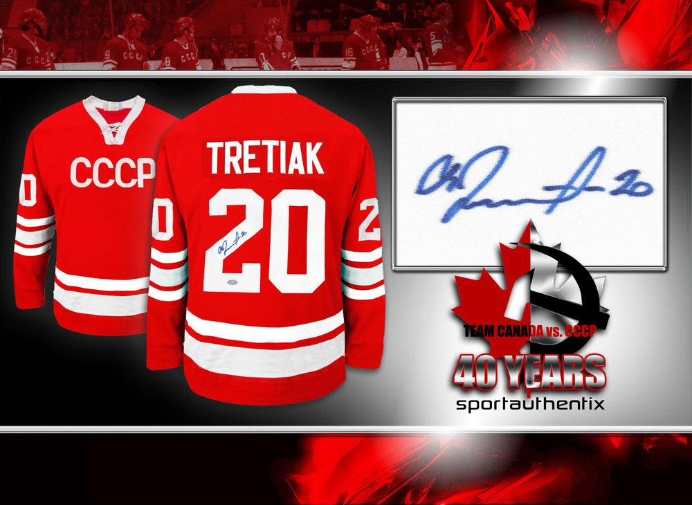 Vladislav Tretiak Team CCCP Russia Autographed Jersey