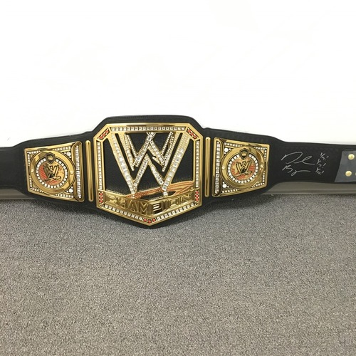 Photo of Daniel Bryan SIGNED WWE Championship Replica Title