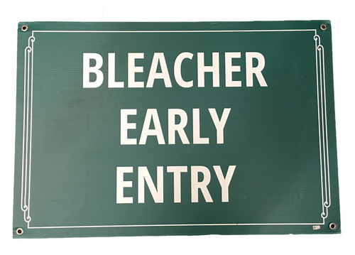Photo of Wrigley Field Collection -- 'Bleacher Early Entry' Concourse Sign