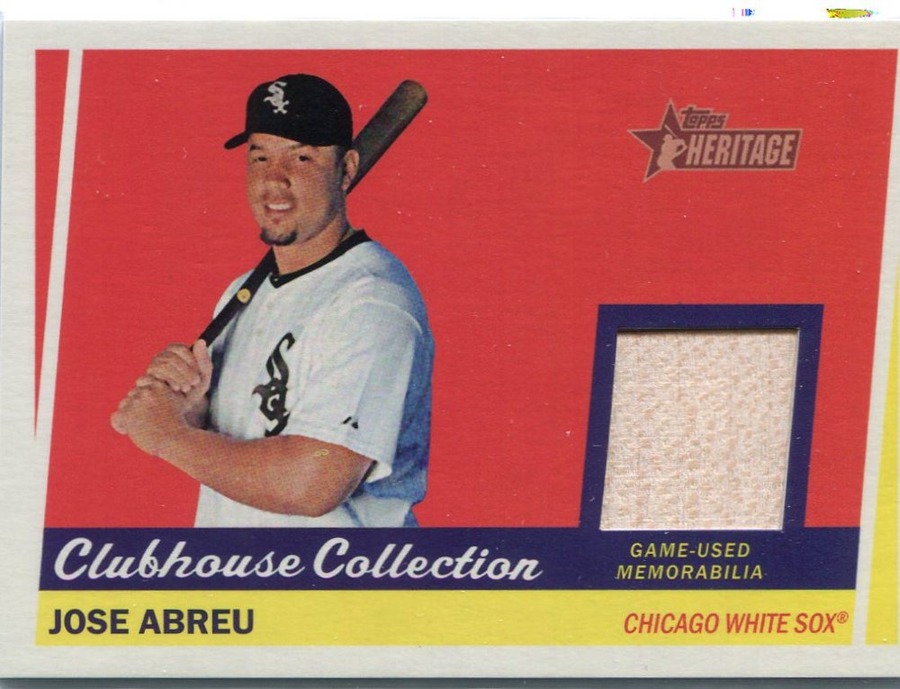2016 Topps Heritage Clubhouse Collection Relics game worn jersey Jose Abreu