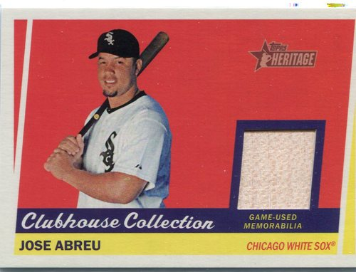 Photo of 2016 Topps Heritage Clubhouse Collection Relics game worn jersey Jose Abreu