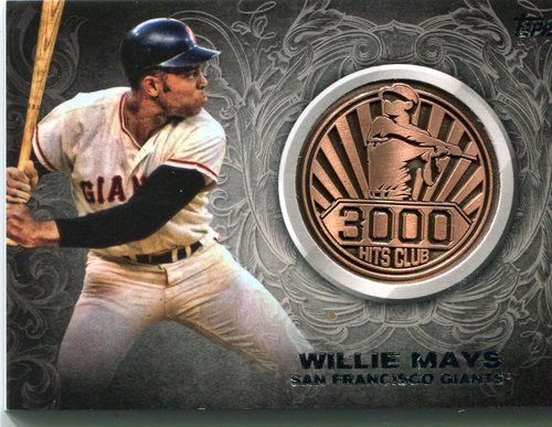 Photo of 2016 Topps Update 3000 Hits Club Medallions Willie Mays