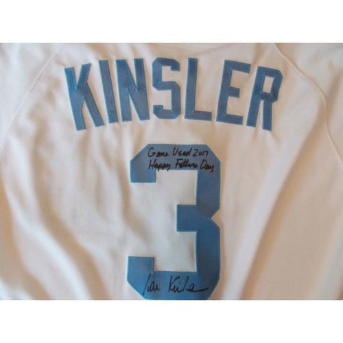 Photo of Autographed Game-Used Father's Day Jersey: Ian Kinsler