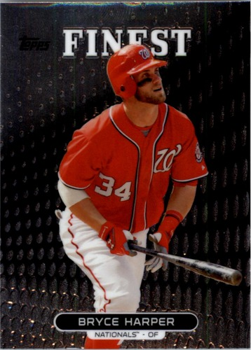 Photo of 2013 Finest #100 Bryce Harper -- Nationals post-season
