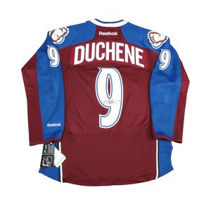 Matt Duchene #9 PLAYER KITZ Signature Series Premier Replica Stitched Signature Colorado Avalanche Home Jersey