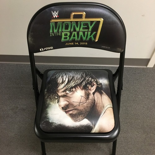 Photo of Dean Ambrose SIGNED Money In The Bank 2015 Event Chair