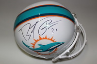 DOLPHINS - BRENT GRIMES SIGNED REPLICA DOLPHINS HELMET