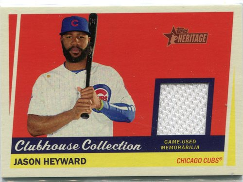 Photo of 2016 Topps Heritage Clubhouse Collection Relics game worn jersey Jason Heyward