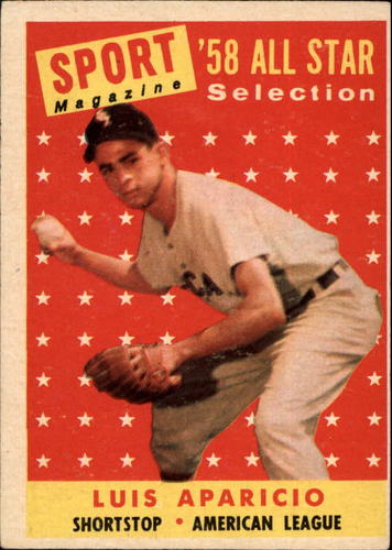 Photo of 1958 Topps #483 Luis Aparicio AS