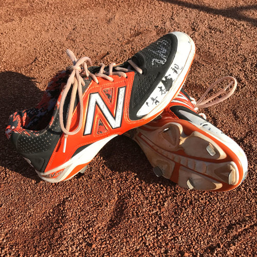 Photo of San Francisco Giants - Autographed Cleats - Nori Aoki