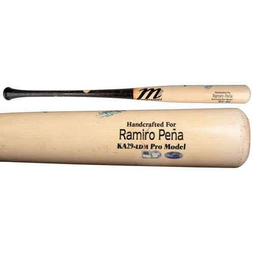 Photo of Ramiro Pena San Diego Padres 2015 Game-Used Broken Marucci Bat vs San Francisco Giants on April 9, 2015