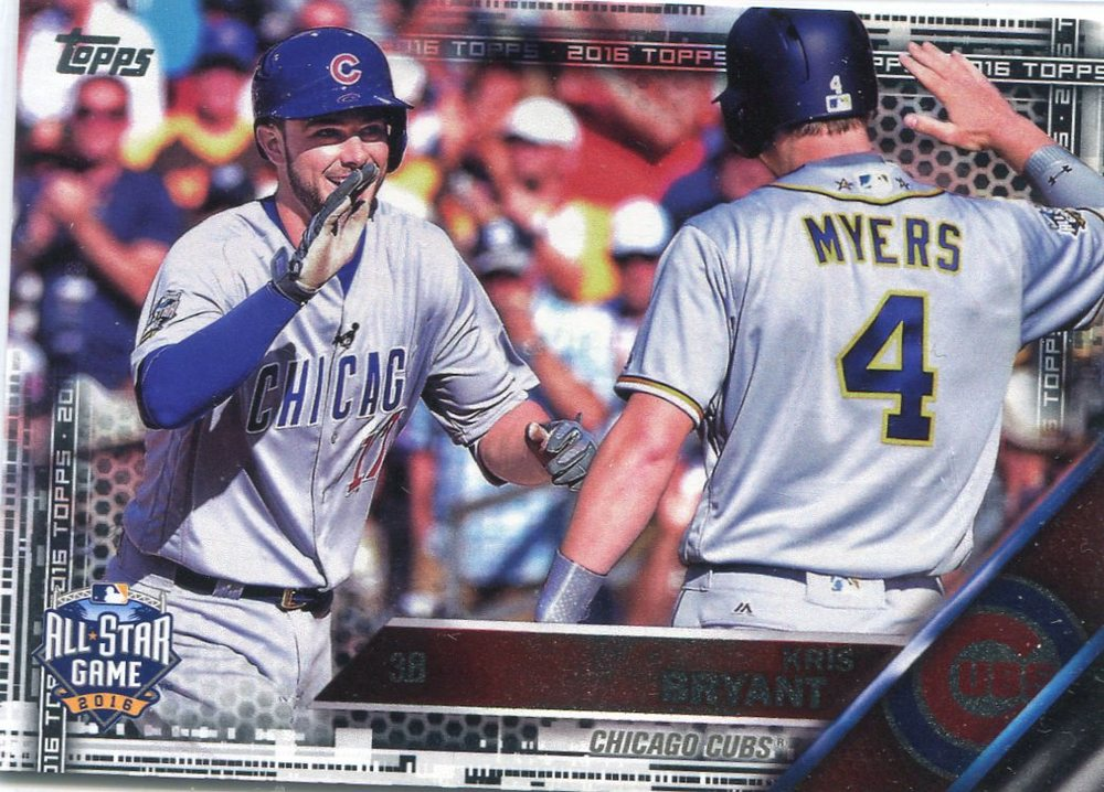 2016 Topps Update Black #US294 Kris Bryant All Star 18/65