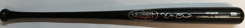 Photo of Robinson Cano Autographed Black Louisville Slugger Bat