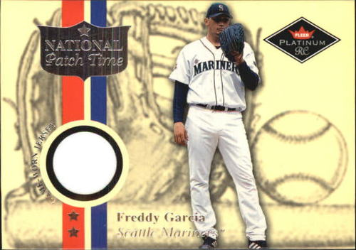 Photo of 2001 Fleer Platinum National Patch Time #17 Freddy Garcia White S2