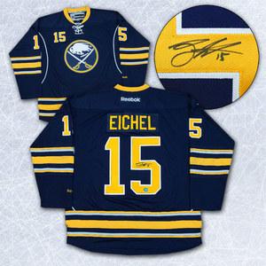 Jack Eichel Buffalo Sabres Autographed Blue Reebok Premier Hockey Jersey *Size Medium*