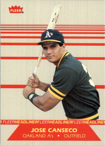 Photo of 1987 Fleer Headliners #2 Jose Canseco