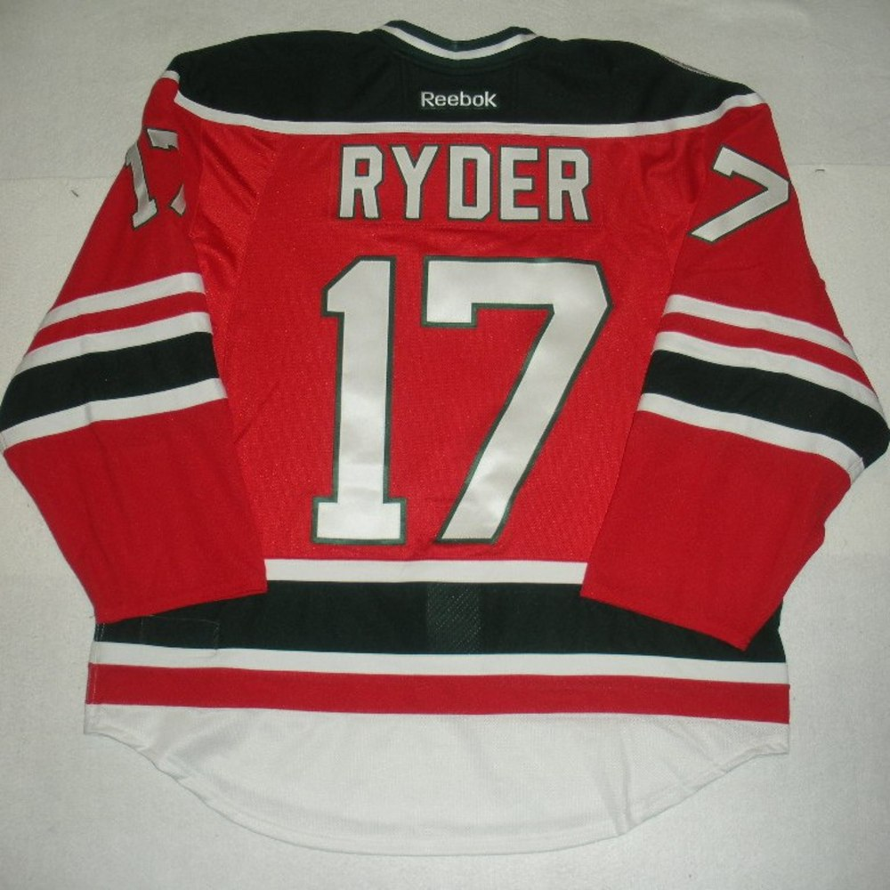 Michael Ryder - 2014 Stadium Series - New Jersey Devils - Red Game-Worn Jersey - Worn in First Period
