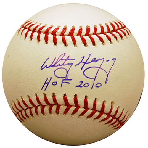 Cardinals Authentics: Whitey Herzog HOF 10 Inscribed Autographed Baseball