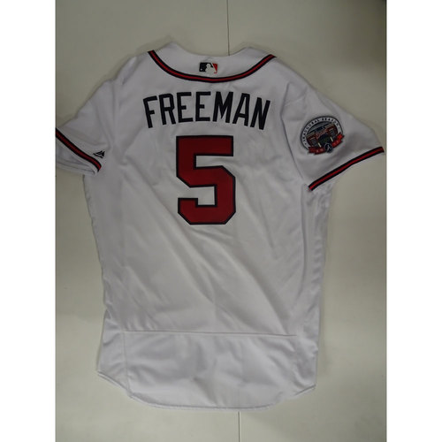 Photo of Freddie Freeman Game-Used Jersey Worn on Opening Day at SunTrust Park - April 14, 2017