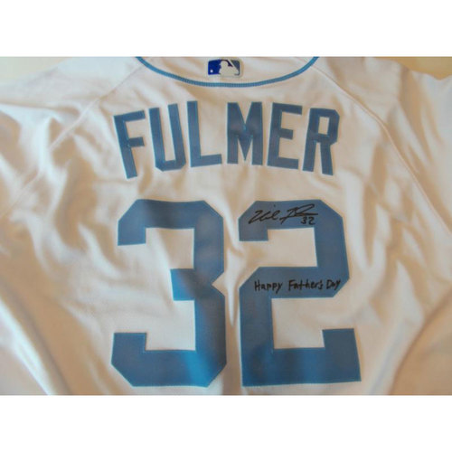 Photo of Autographed Team-Issued Father's Day Jersey: Michael Fulmer