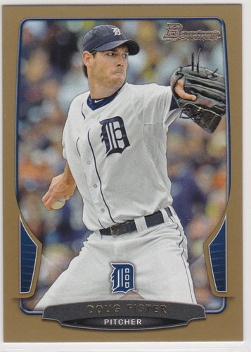 Photo of 2013 Bowman Gold #75 Doug Fister -- Red Sox post-season