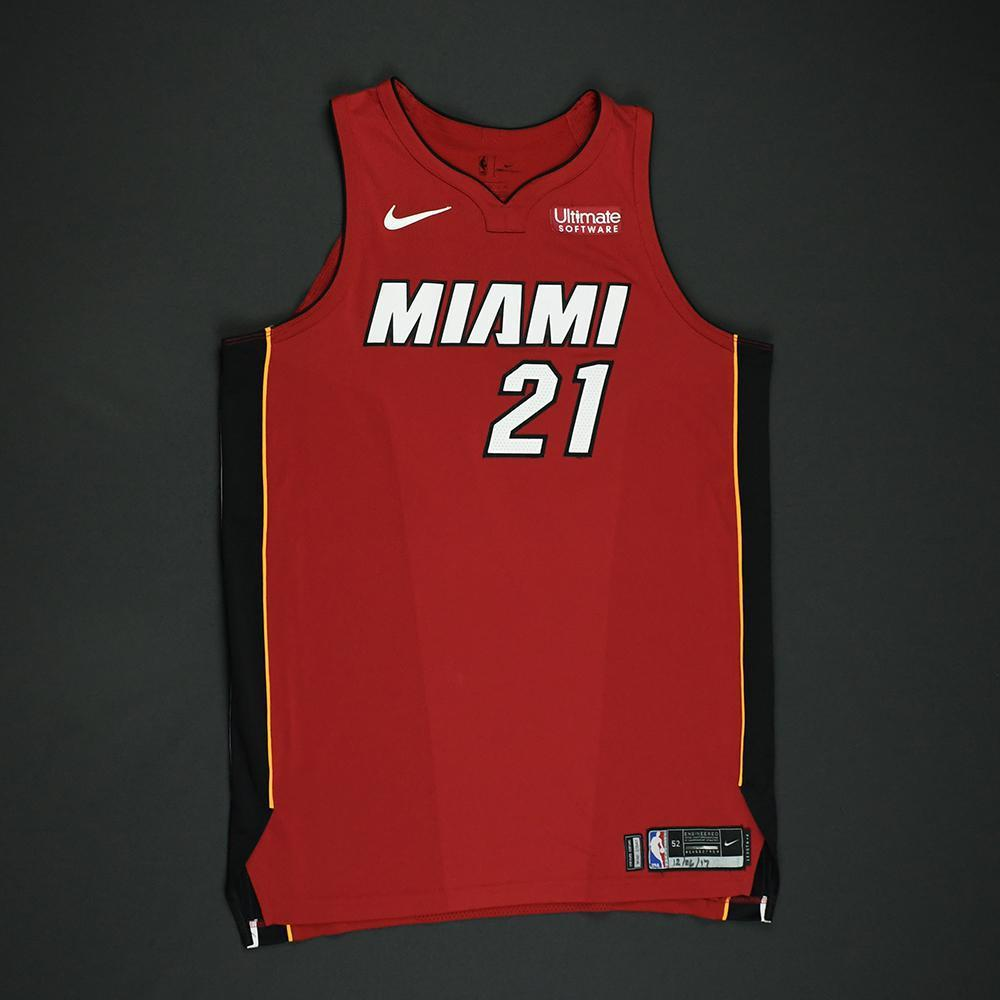 Hassan Whiteside - Miami Heat - Game-Worn 'Statement' Jersey - 2017-18 Season