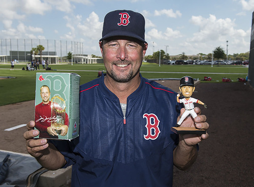 Photo of Limited Edition Tim Wakefield Bobblehead and Wally's Luggage Tag