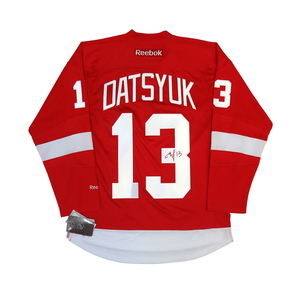 Pavel Datsyuk #13 PLAYER KITZ Signature Series Premier Replica Stitched Signature Detroit Red Wings Home Jersey