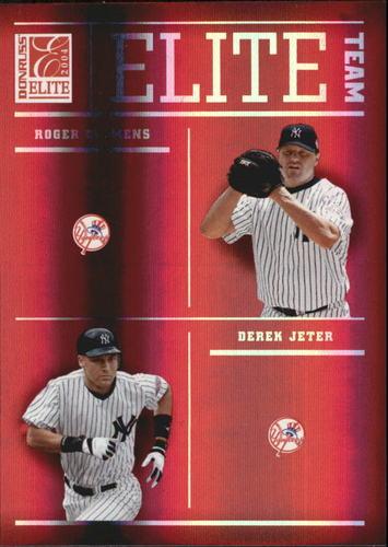 Photo of 2004 Donruss Elite Team #2 Yankees Derek Jeter/Roger Clemens/Bernie Williams/Andy Pettitte #d/1500
