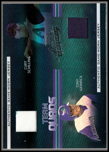 Photo of 2005 Absolute Memorabilia Team Quads Swatch Single Spectrum #22 Arizona Diamondbacks/100