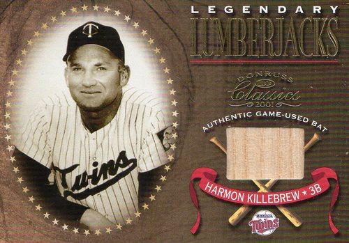 Photo of 2001 Donruss Classics Legendary Lumberjacks #LL16 Harmon Killebrew