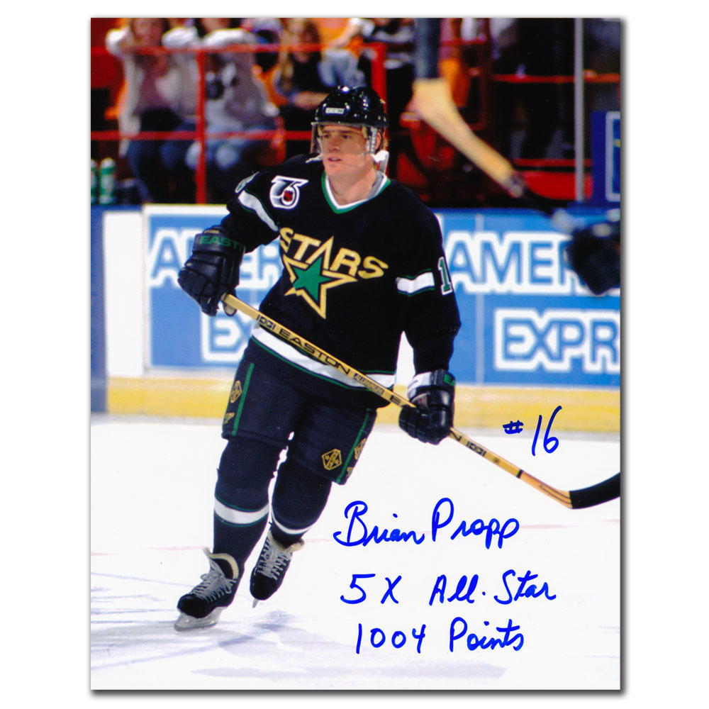 Brian Propp Minnesota North Stars 5x All-Star Autographed 8x10