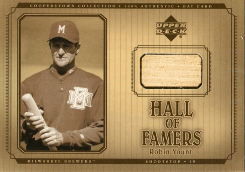 Photo of 2001 Upper Deck Hall of Famers Game Bat  Robin Yount -- Milwaukee Brewers