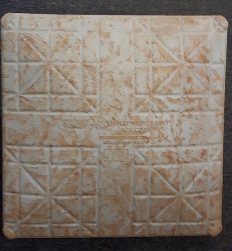 Photo of Authenticated Game Used Base - August 14, 2016 vs HOU. 2nd Base for Innings 4-6. Blue Jays 40th Anniversary Celebration Game 3