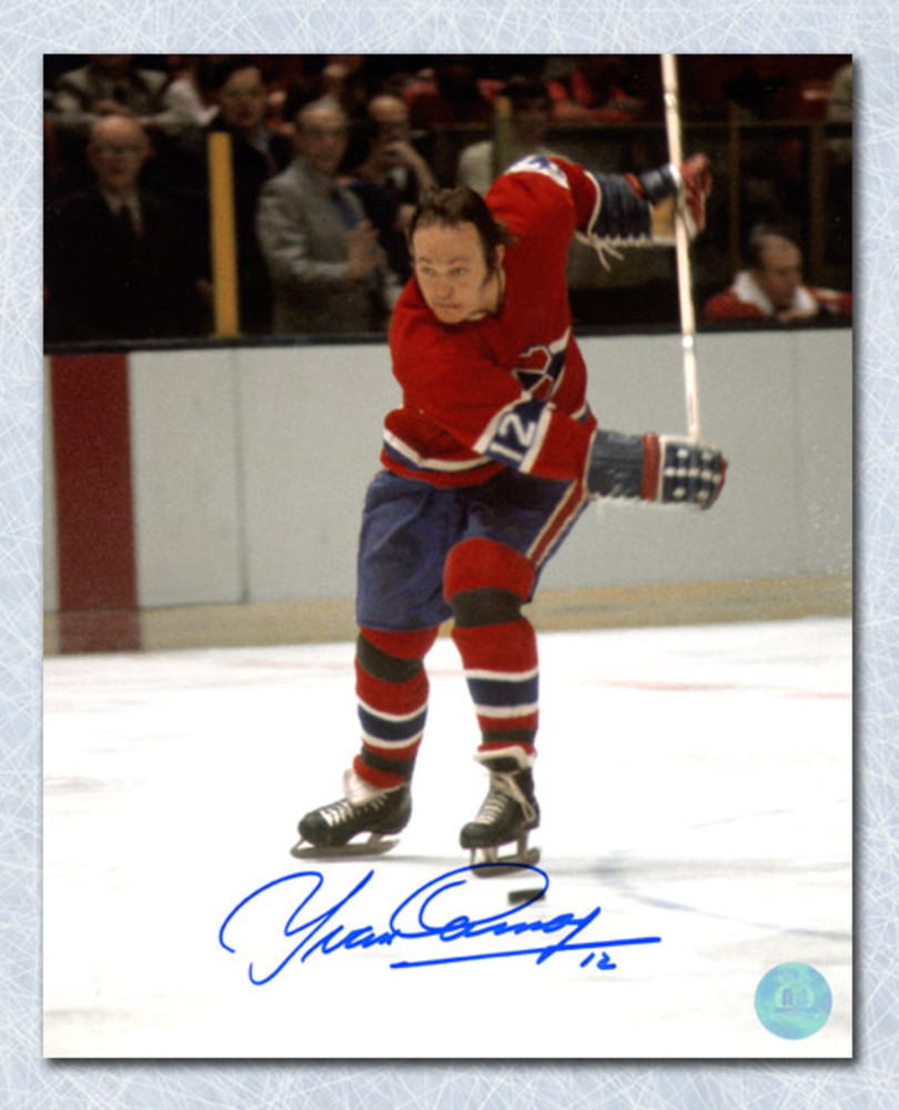 Yvan Cournoyer Montreal Canadiens Autographed Slapshot 8x10 Photo