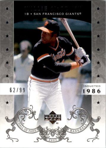 Photo of 2005 Upper Deck Hall of Fame Silver #74 Willie McCovey