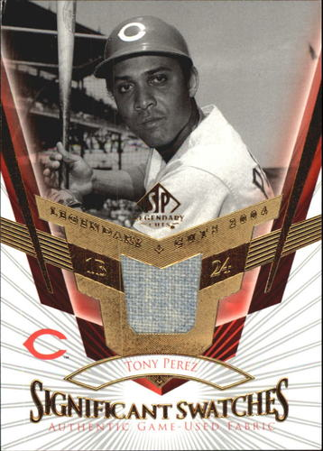Photo of 2004 SP Legendary Cuts Significant Swatches #TP Tony Perez Jsy