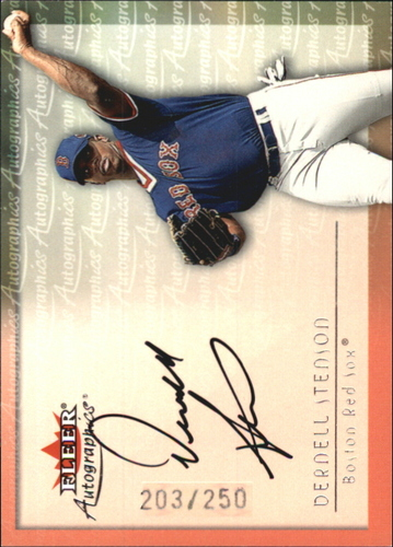 Photo of 2001 Fleer Autographics Silver #93 Dernell Stenson